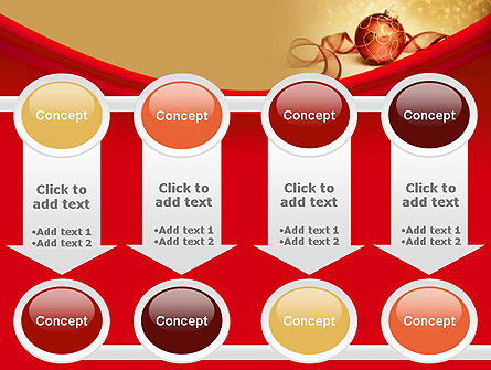 Red-gold Christmas Theme PowerPoint Template Slide 18