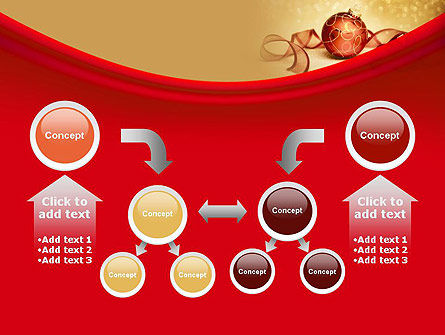 Red-gold Christmas Theme PowerPoint Template Slide 19