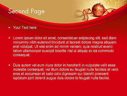 Red-gold Christmas Theme PowerPoint Template Slide 2