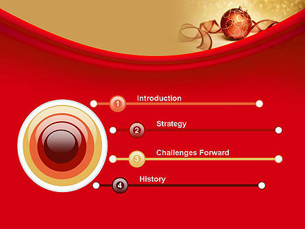 Red-gold Christmas Theme PowerPoint Template Slide 3