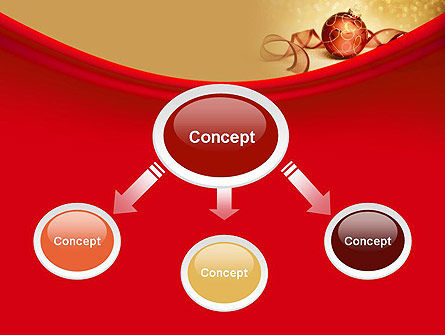 Red-gold Christmas Theme PowerPoint Template Slide 4