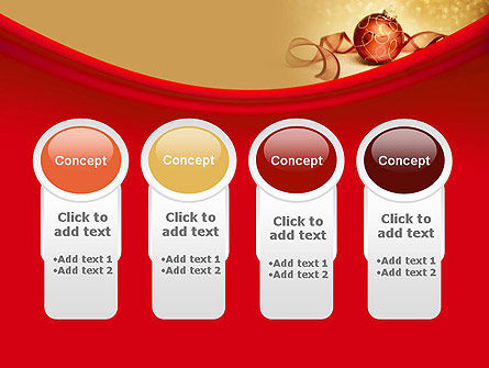 Red-gold Christmas Theme PowerPoint Template Slide 5