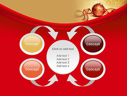 Red-gold Christmas Theme PowerPoint Template Slide 6