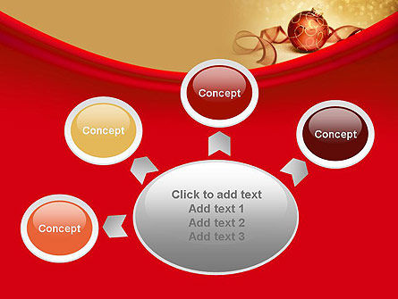 Red-gold Christmas Theme PowerPoint Template Slide 7