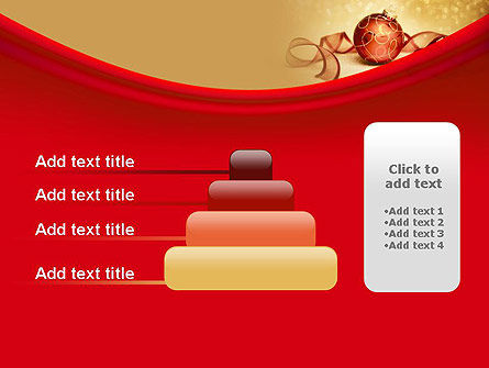 Red-gold Christmas Theme PowerPoint Template Slide 8