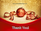 Red-gold Christmas Theme PowerPoint Template#20