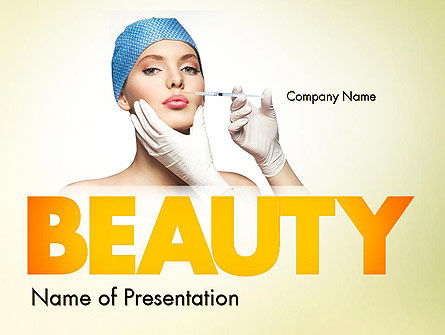 Cosmetic Injection PowerPoint Template, 11597, Medical — PoweredTemplate.com