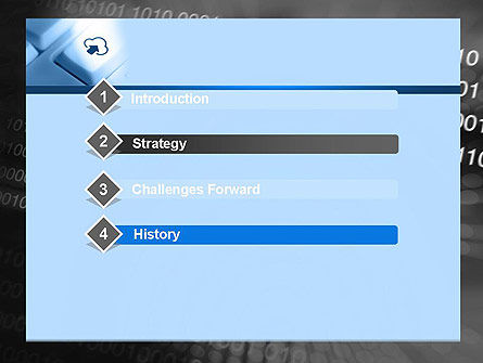 Upload to Cloud Button PowerPoint Template, Slide 3, 11598, Technology and Science — PoweredTemplate.com