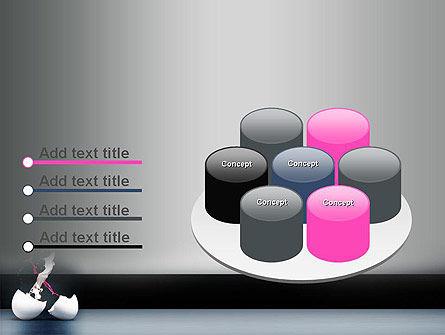 Splash of Color from Broken Egg PowerPoint Template Slide 12