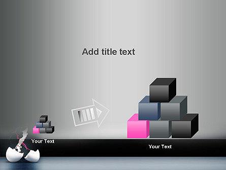 Splash of Color from Broken Egg PowerPoint Template Slide 13