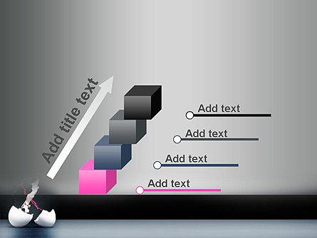 Splash of Color from Broken Egg PowerPoint Template Slide 14