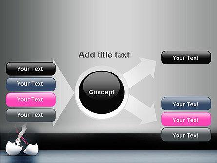 Splash of Color from Broken Egg PowerPoint Template Slide 15