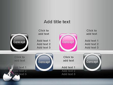 Splash of Color from Broken Egg PowerPoint Template Slide 18