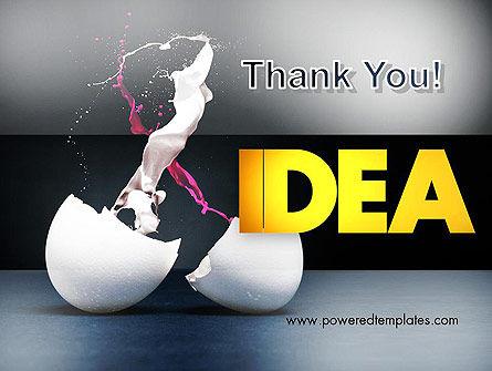 Splash of Color from Broken Egg PowerPoint Template Slide 20