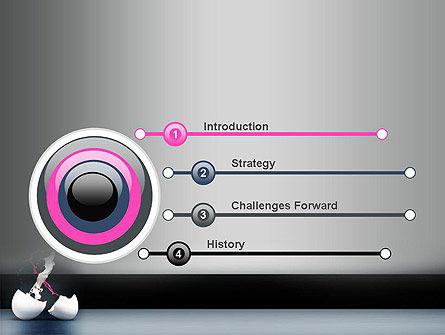 Splash of Color from Broken Egg PowerPoint Template Slide 3