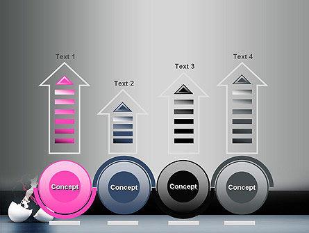 Splash of Color from Broken Egg PowerPoint Template Slide 7