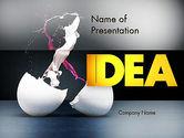 Art & Entertainment: Modèle PowerPoint de éclaboussure de couleur des oeufs cassés #11599