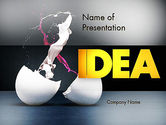 Art & Entertainment: Modelo do PowerPoint - splash da cor do ovo quebrado #11599