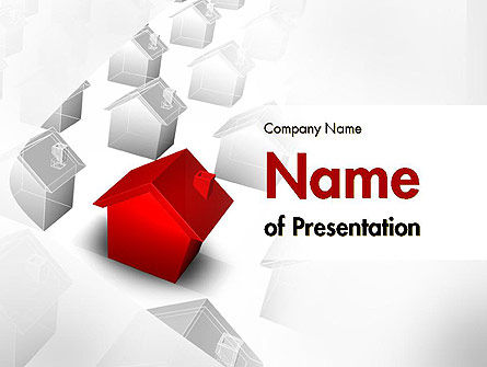 Real Estate: Suburbane Woning PowerPoint Template #11601