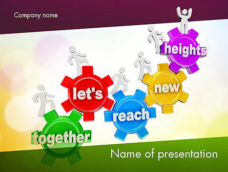Working Together Team PowerPoint Template