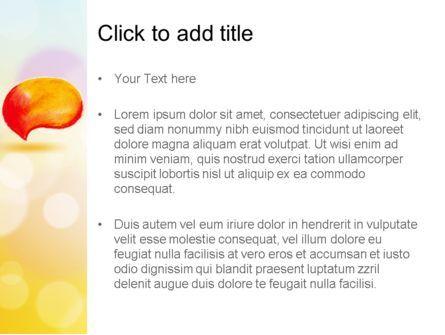 Watercolor Speech Bubble PowerPoint Template, Slide 3, 11603, Abstract/Textures — PoweredTemplate.com