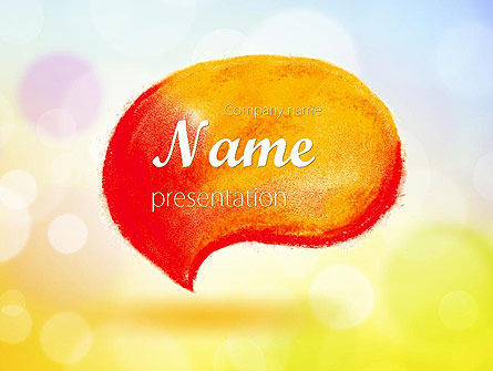 Abstract/Textures: Watercolor Speech Bubble PowerPoint Template #11603