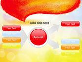 Watercolor Speech Bubble PowerPoint Template#14