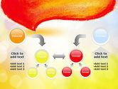 Watercolor Speech Bubble PowerPoint Template#19
