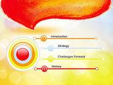 Watercolor Speech Bubble PowerPoint Template#3