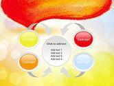 Watercolor Speech Bubble PowerPoint Template#6