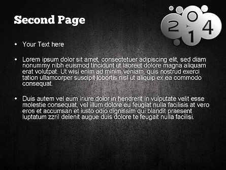 Metal Style 2014 PowerPoint Template Slide 2