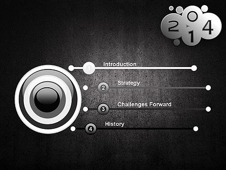 Metal Style 2014 PowerPoint Template Slide 3
