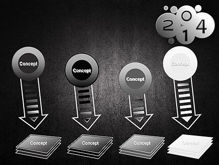 Metal Style 2014 PowerPoint Template Slide 8