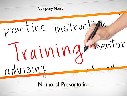 Education & Training: Training Plan PowerPoint Template #11607