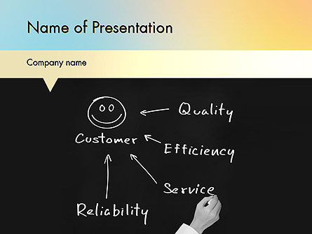 Customer Satisfaction PowerPoint Template, 11608, Education & Training — PoweredTemplate.com