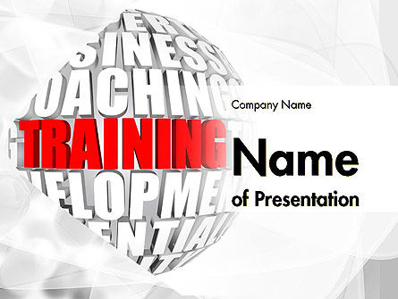 Training and Development Words PowerPoint Template