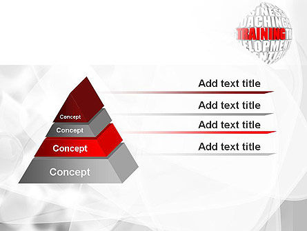Training and Development Words PowerPoint Template Slide 12