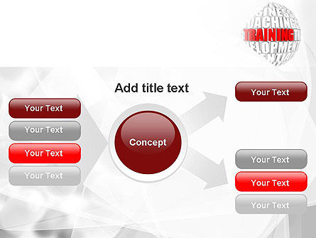 Training and Development Words PowerPoint Template Slide 14