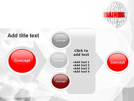 Training and Development Words PowerPoint Template Slide 17