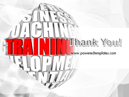 Training and Development Words PowerPoint Template Slide 20