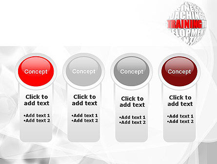Training and Development Words PowerPoint Template Slide 5