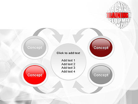 Training and Development Words PowerPoint Template Slide 6