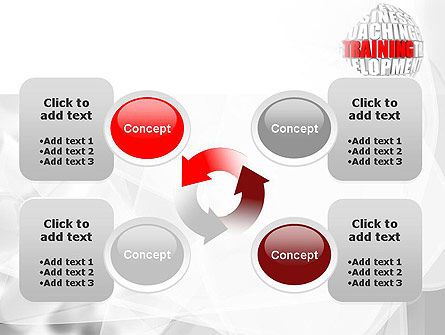 Training and Development Words PowerPoint Template Slide 9