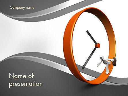 Running Late for Work PowerPoint Template, 11610, Consulting — PoweredTemplate.com