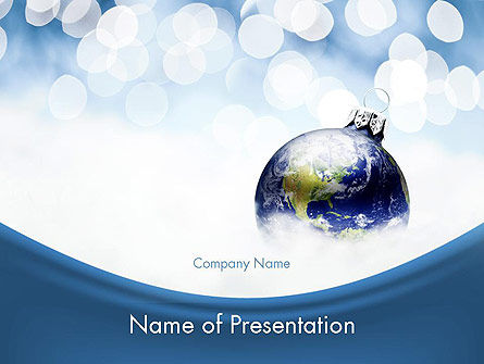 A World of Best Wishes Christmas PowerPoint Template, 11611, Holiday/Special Occasion — PoweredTemplate.com