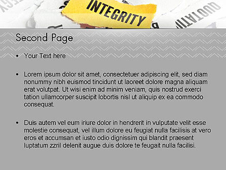 Integrity Concept PowerPoint Template Slide 2
