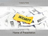 Business Concepts: Integrity Concept PowerPoint Template #11612
