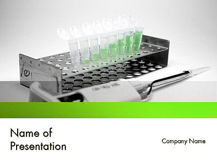 Laboratory Research Equipment PowerPoint Template, 11615, Technology and Science — PoweredTemplate.com