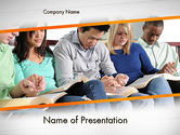 Religious/Spiritual: Prayer Group PowerPoint Template #11616