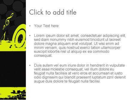 Music Theme PowerPoint Template, Slide 3, 11617, Art & Entertainment — PoweredTemplate.com